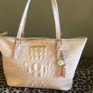 Authentic Light peach Brahmin purse